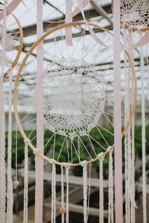 Oversized Ivory Dreamcatcher Altar