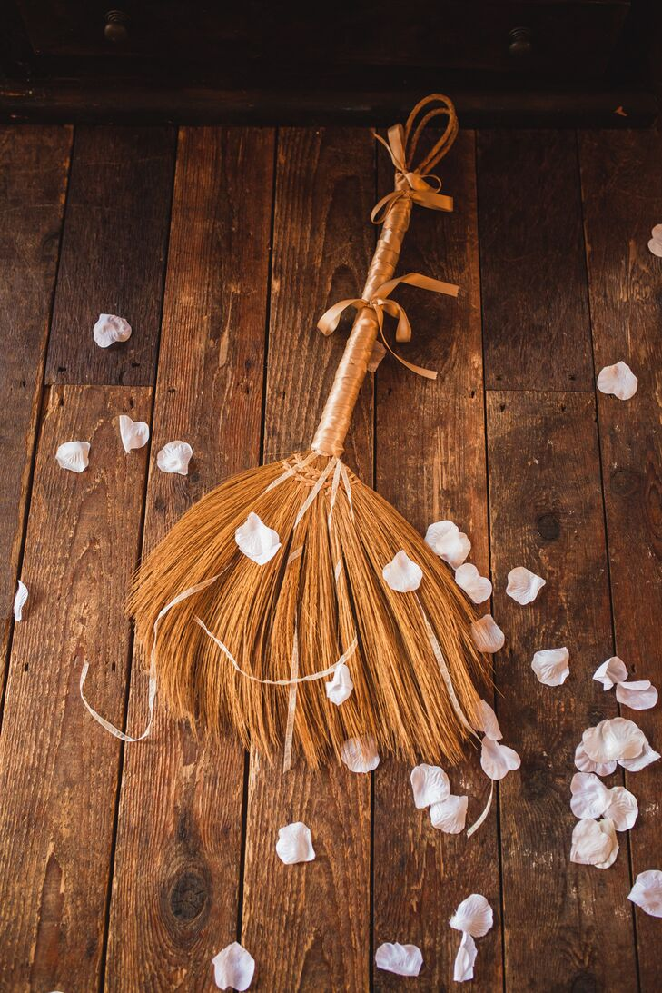 Straw Wedding Broom