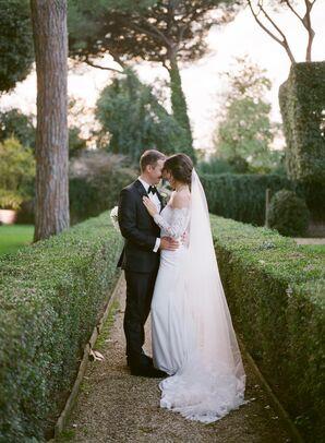 Elegant Couple at Villa Aurelia in Rome