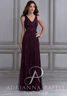 Adrianna Papell Platinum 40123 V-Neck Bridesmaid Dress