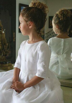 Isabel Garretón Embellished White Flower Girl Dress