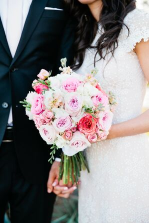 Pink Garden Rose Bouquet in Gilbert, Arizona