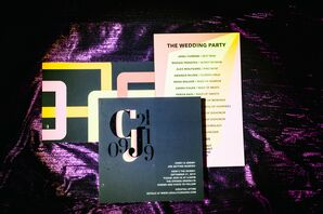 Colorful Wedding Paper Details at The Springs in Brooklyn, New York
