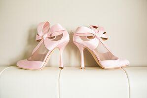 Pink Bow Tie Heels