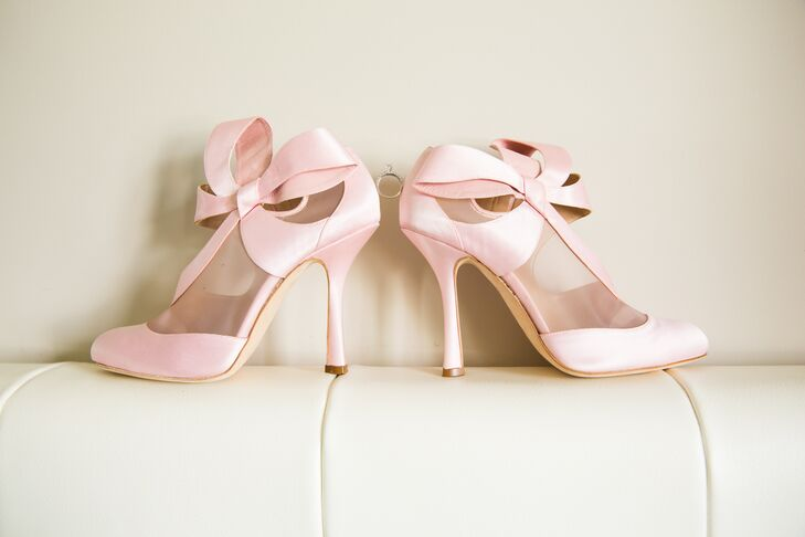 Light Pink Bow Heels