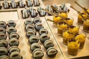 Blue Macaron Desserts