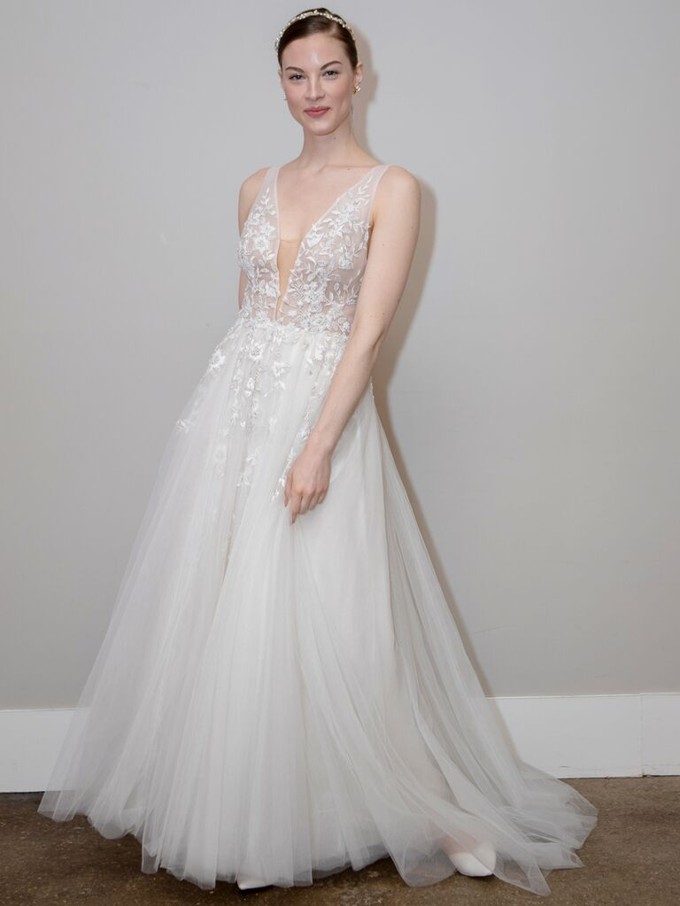 BHLDN Spring 2020 Bridal Collection lace and tulle A-line wedding dress