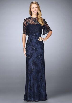 La Femme Evening 24856 Blue Mother Of The Bride Dress
