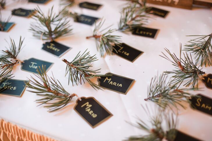 Evergreen Winter Escort Cards