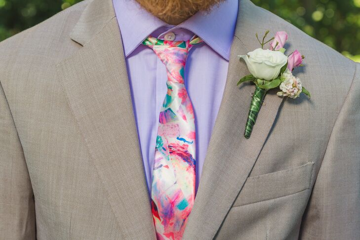 Neon Abstract Tie