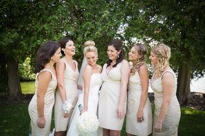 Champagne J. Crew Bridesmaid Dresses
