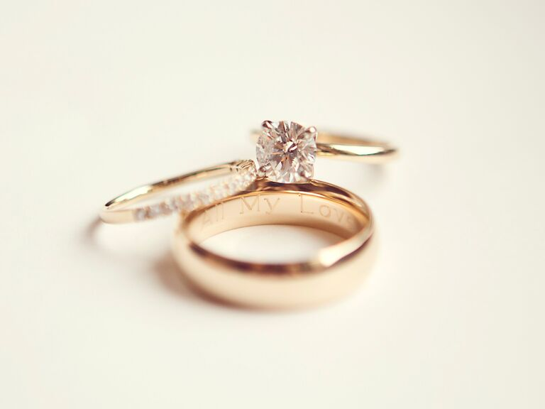 """Engraved wedding band: """"All My Love"""""""