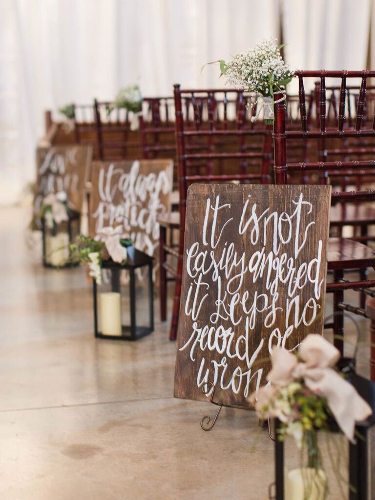 Wooden Wedding Signs.25 Rustic And Wood Wedding Signs For A Rustic Wedding
