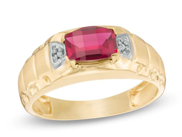 ruby engagement ring for him