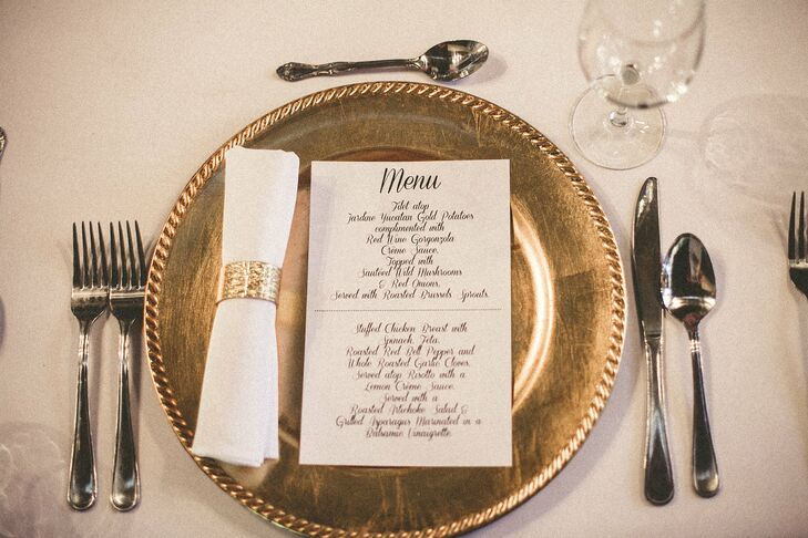 Glamorous Gold Place Settings