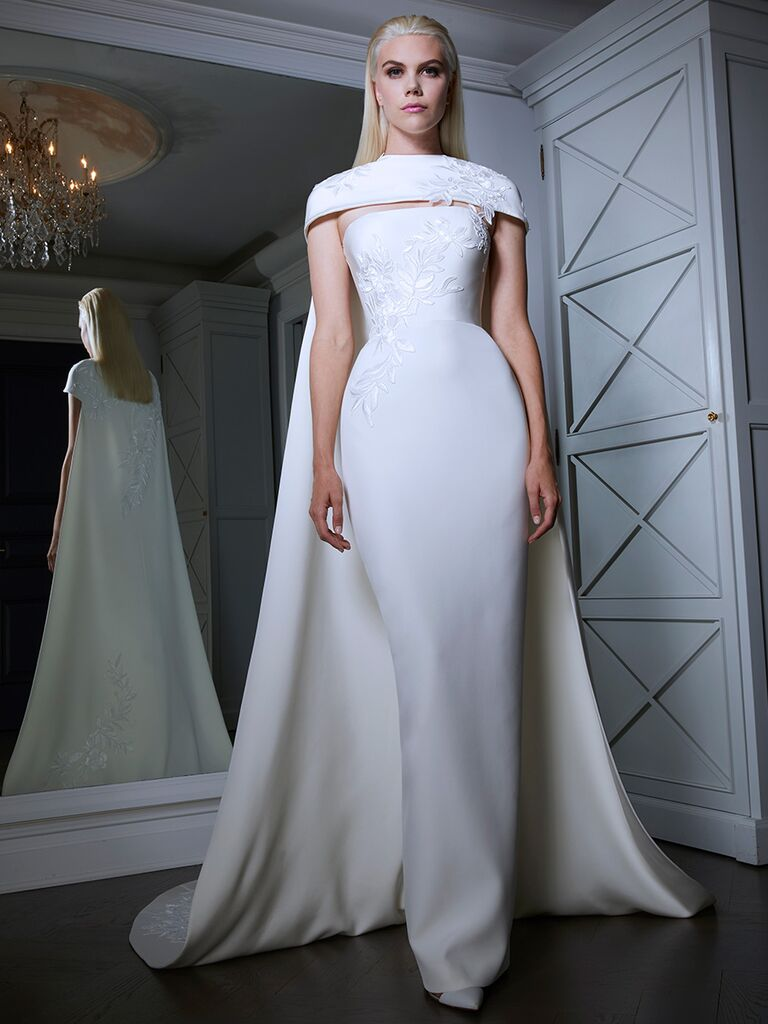 Romona Keveza wedding dress column dress
