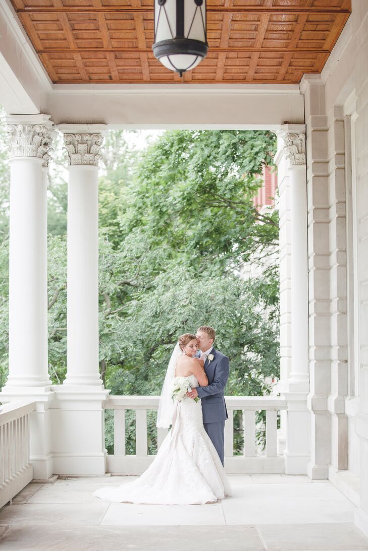 David and Tricia chose not to see each other before their ceremony.