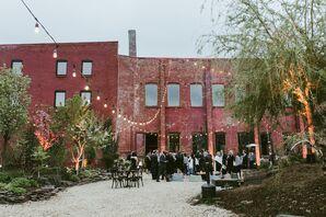 Outdoor Industrial Reception at Pioneer Works in Brooklyn, New York