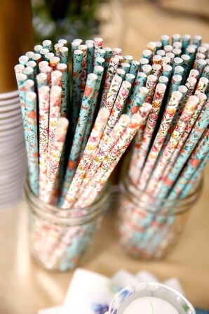 Floral Cocktail Straws