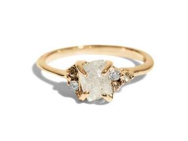 35 Raw Diamond Engagement Rings We Love