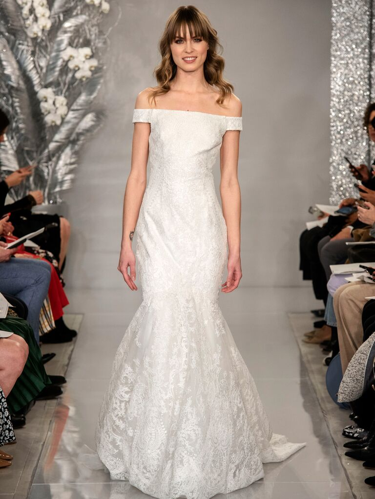 Theia Spring 2020 Bridal Collection off-the-shoulder wedding dress