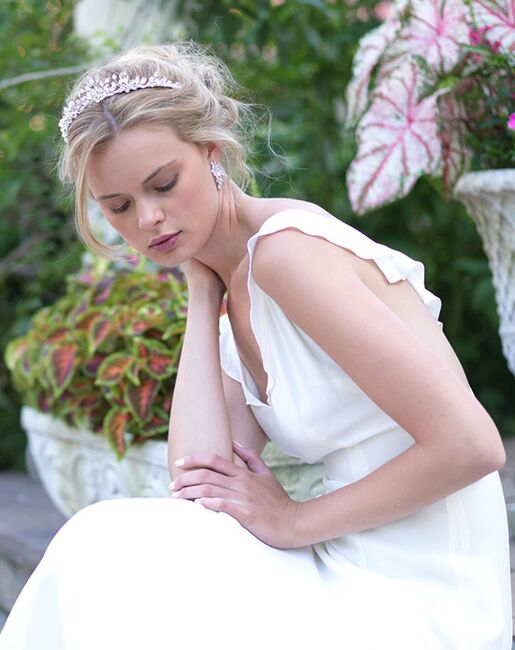 Dareth Colburn Aria Bridal Tiara (TI-7056) Silver Tiara