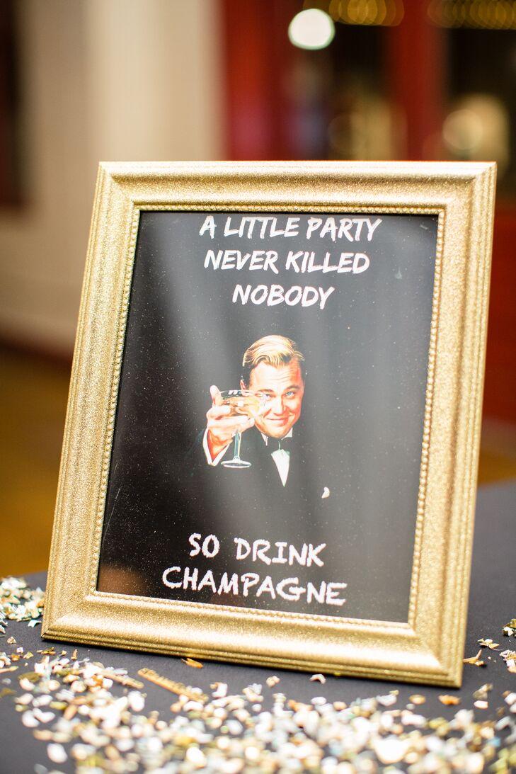 Celebratory Reception Bar Decor
