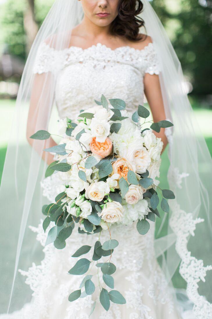 Romantic Cascading Eucalyptus Bouquet