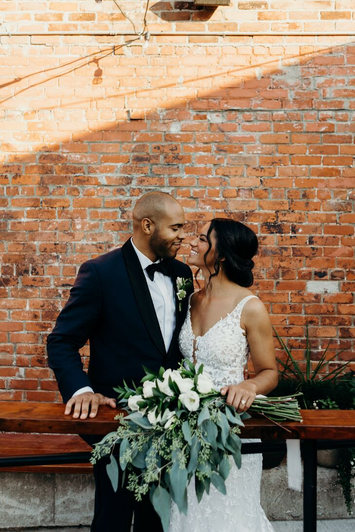 Wedding Portraits at Urban Warehouse Wedding in Detroit, Michigan