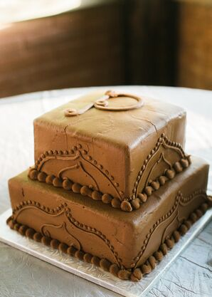 Squared Tiered Groom's Cake