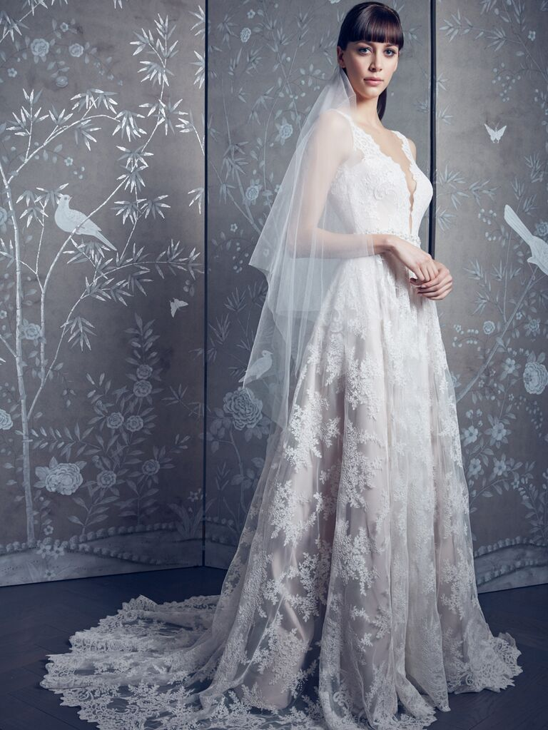 Legends by Romona Keveza Spring 2020 Bridal Collection lace plunging wedding dress