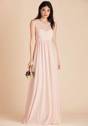 Birdy Grey Ryan Mesh Dress in Pale Blush Illusion Bridesmaid Dress