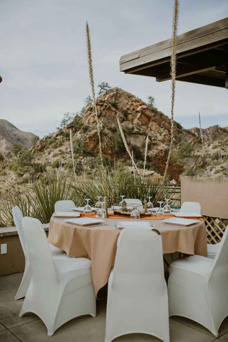 Wedding Reception Tables and Chairs at Big Bend National Park Wedding