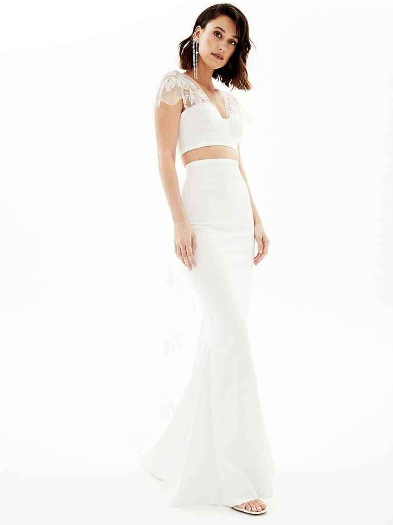 Rime Arodaky crop top with butterfly sleeves