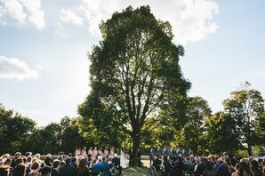 Whimsical Outdoor Ceremony in Park