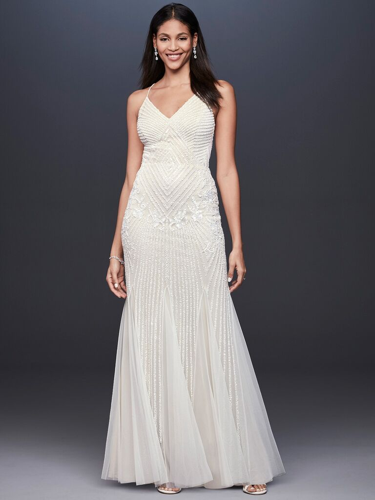DB Studio sheath wedding dress