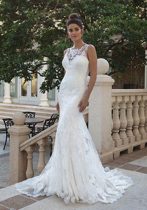 Sincerity Bridal 44077 Sheath Wedding Dress