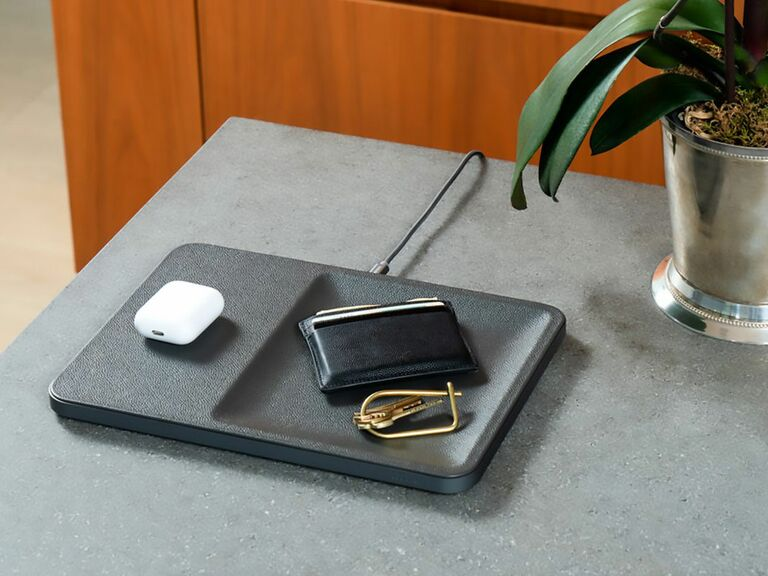charging valet tray gift for husband