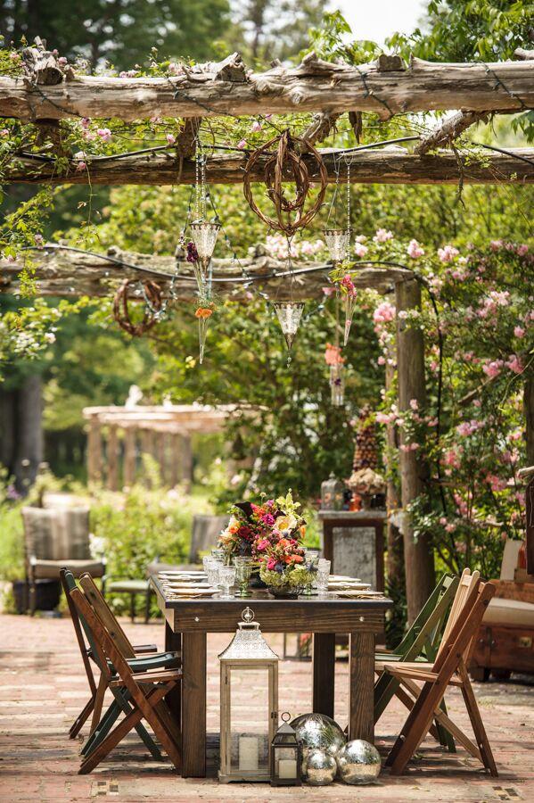 Intimate Garden Wedding Reception