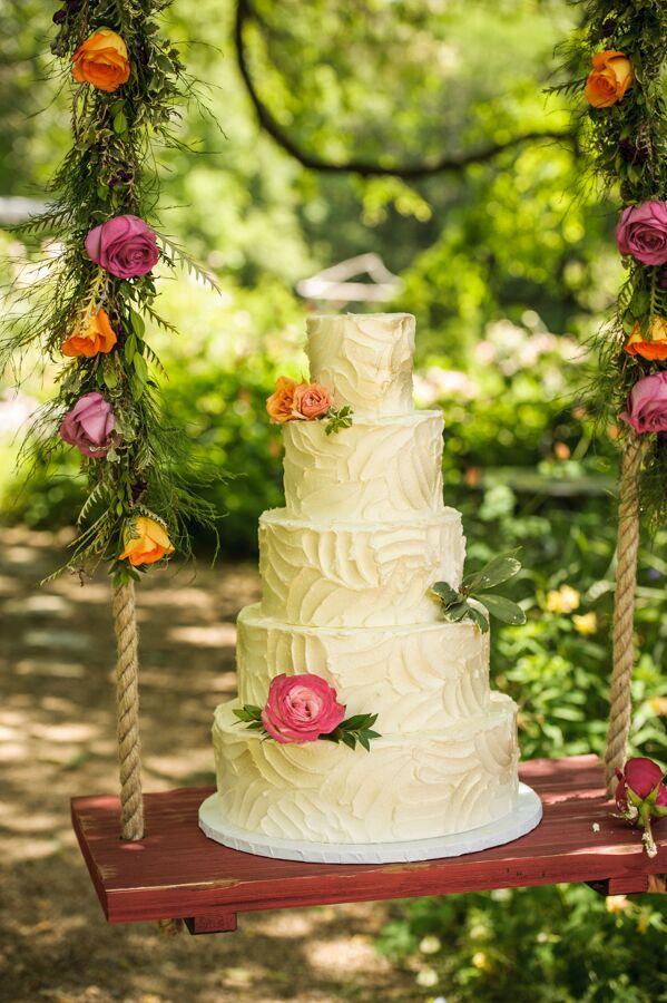 Rustic Five-Tier Wedding Cake