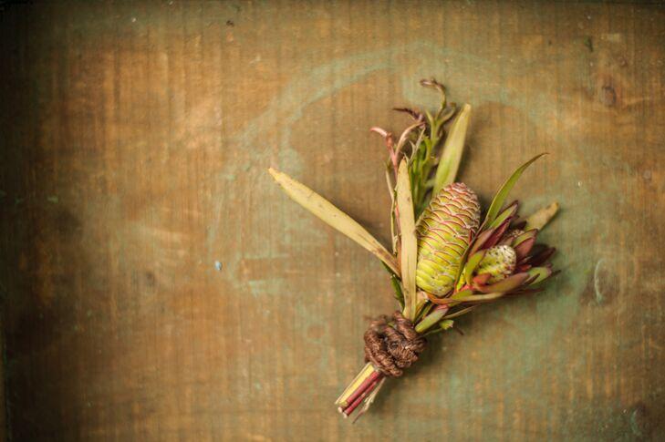 Rustic Non-Floral Boutonniere