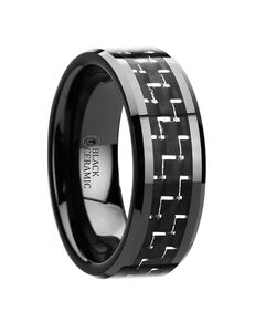 Mens Tungsten Wedding Bands W2946-BBCF Tungsten Wedding Ring