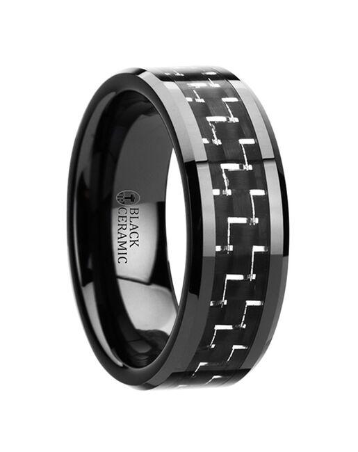Mens Tungsten Wedding Bands W2946-BBCF Tungsten Wedding Ring
