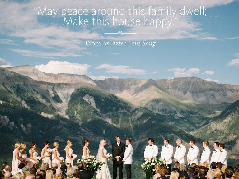 Aztec Love Song wedding ceremony reading