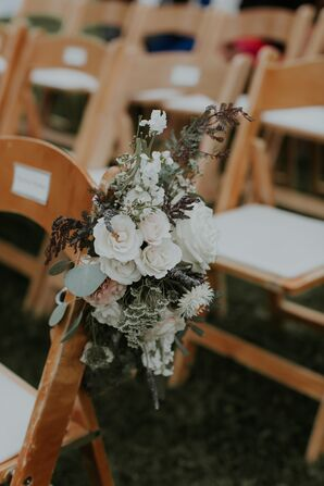 Lisianthus, Rose and Wildflower Aisle Markers