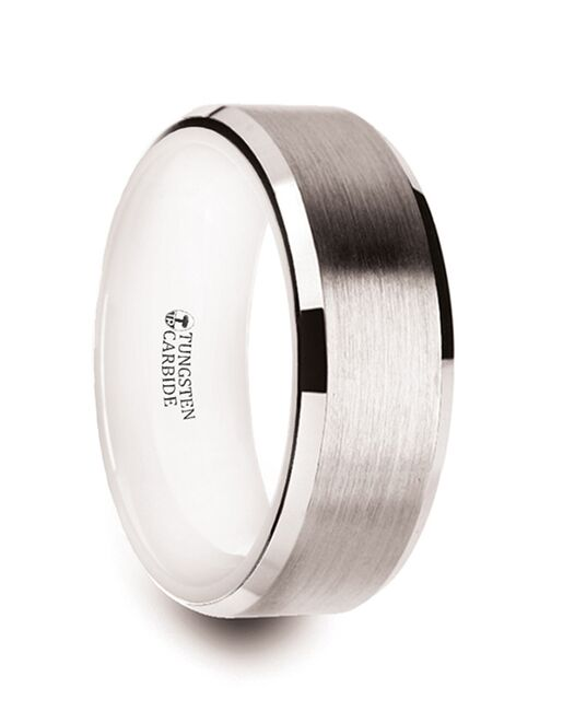 Mens Tungsten Wedding Bands W1398-WITC Tungsten Wedding Ring