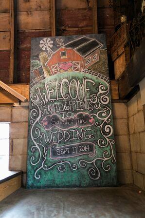 Colorful Chalkboard Wedding Sign