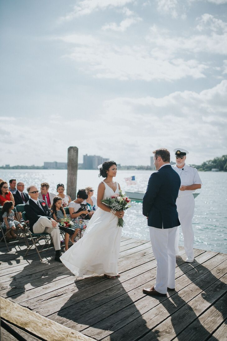 Josephine Cook (31 and a nonprofit executive director) and Justin Roberts (29 and an architect) both grew up in Lake Charlevoix in northern Michigan,