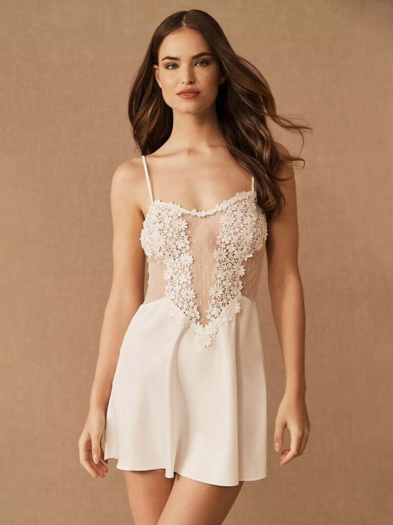 white lace slip wedding night lingerie