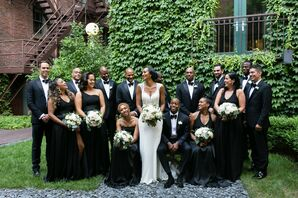 Wedding Party at The Ivy Room at Tree Studios in Chicago, Illinois